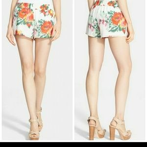 Joie Lanina Watercolor floral shorts.